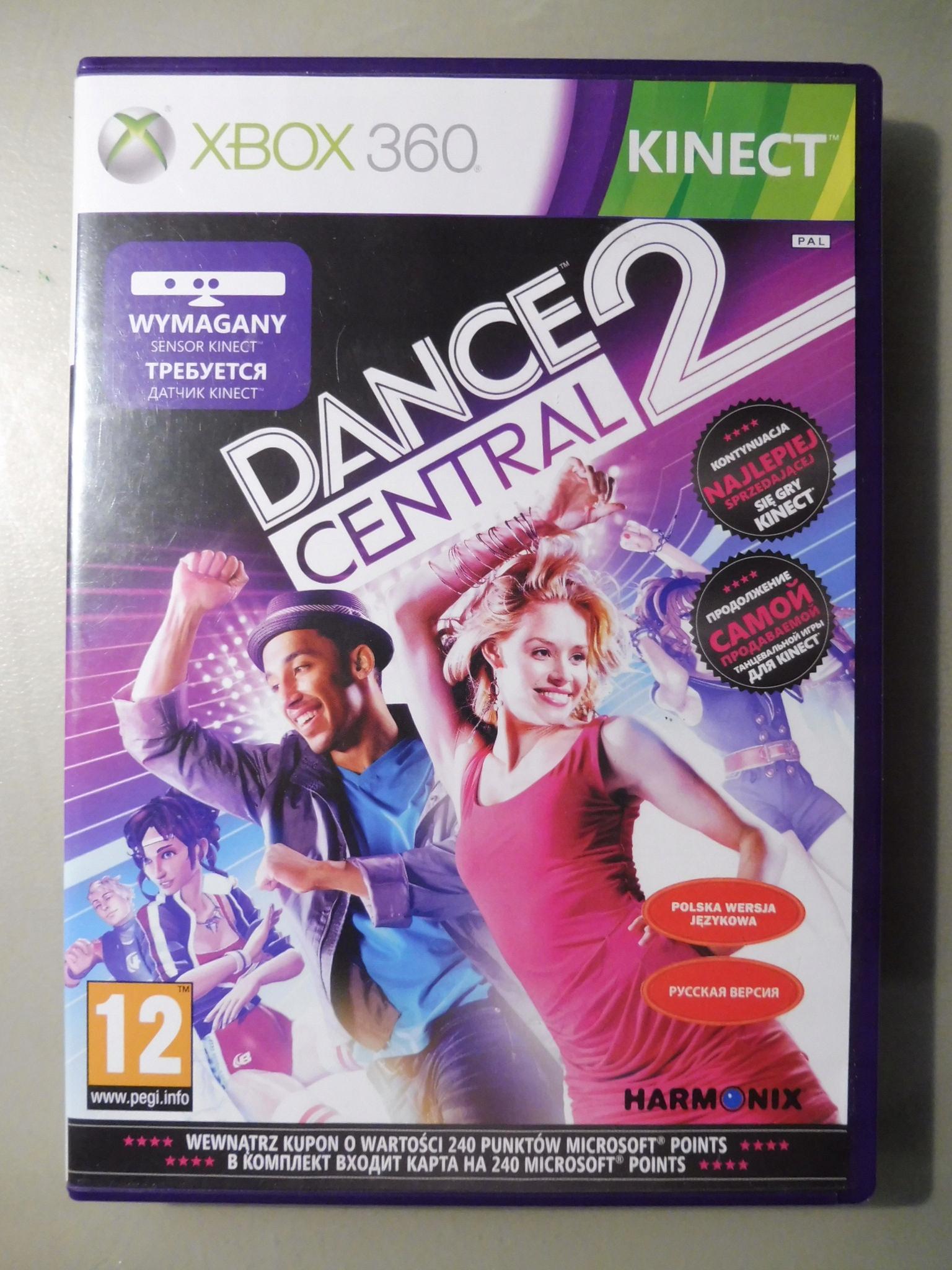 DANCE CENTRAL 2 XBOX 360 KINECT PO POLSKU