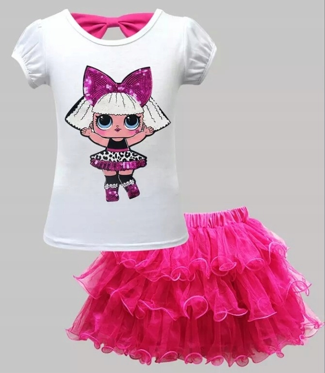 HIT!! LOL SURPRISE Komplet spódniczka+koszulka r98
