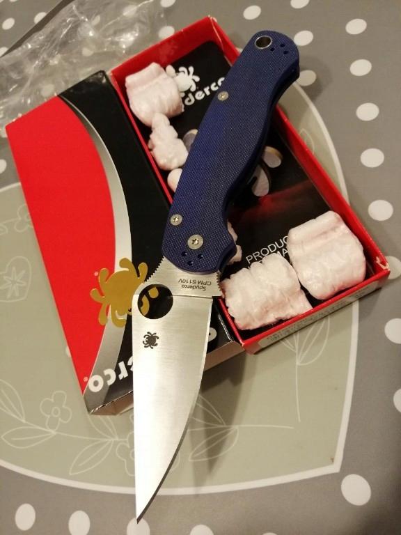 Nóż spyderco para military 2 s110v dark blue