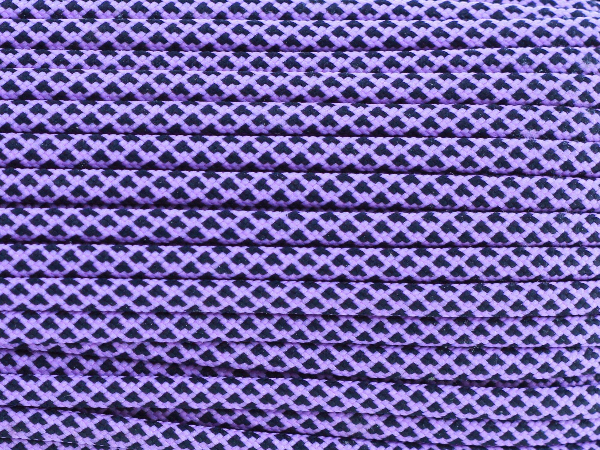 Paracord 550 linka - bright purple diamonds
