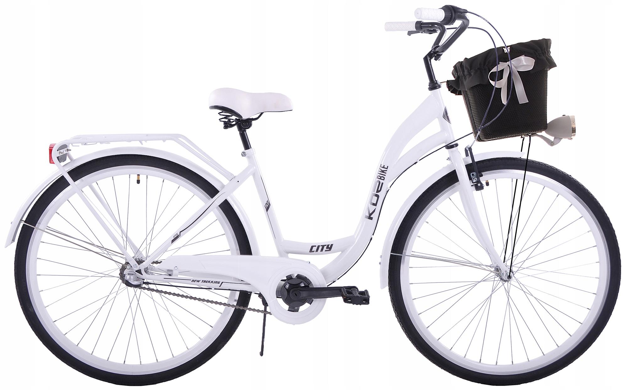 Kozbike 25 damski rower miejski 28 damka 3b kosz