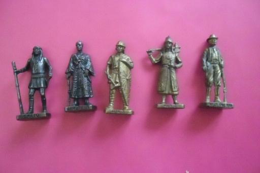Wojownicy,zołnierze, rycerze w metalu. 5sztuk