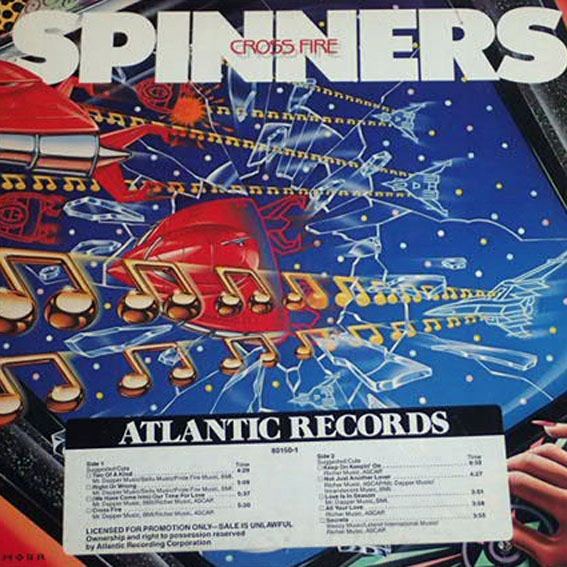 Spinners - Cross Fire (Lp U.S.A.1Press) Promo !!