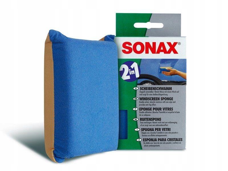 SONAX Gąbka do szyb 2w1 Zapobiega parowaniu szyb