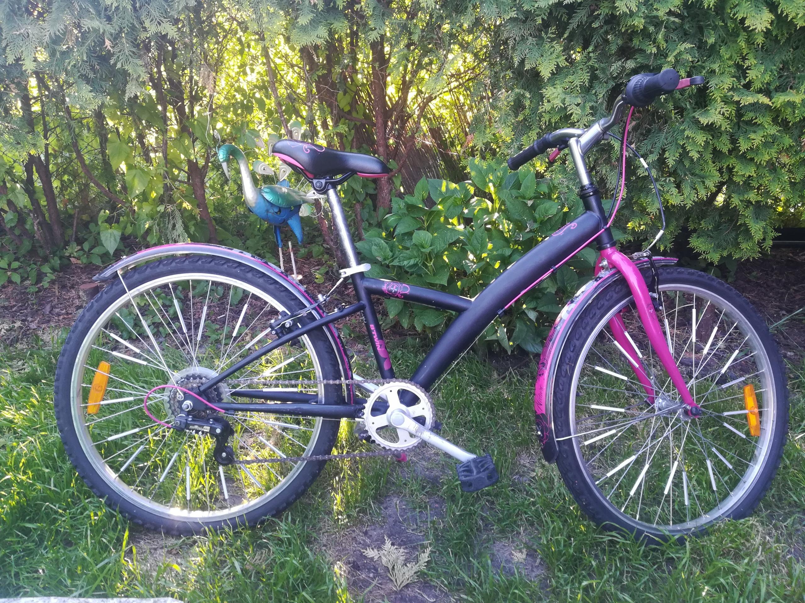 42fa59bbb Rower dla dziewczynki b'twin nature poply 24 cale - 7445229636 ...