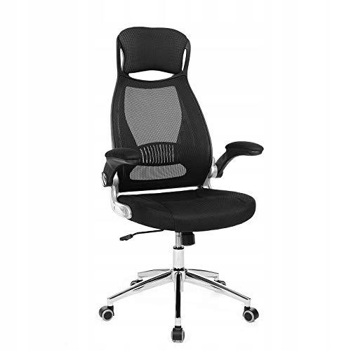 Merax Krzesło dziecięce, fotel biurowy czarno nieb