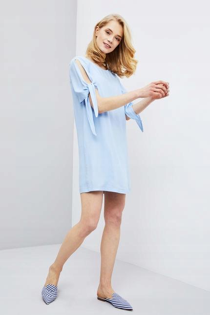 Sukienka typu arms cold L-SU-2528 L.BLUE; S