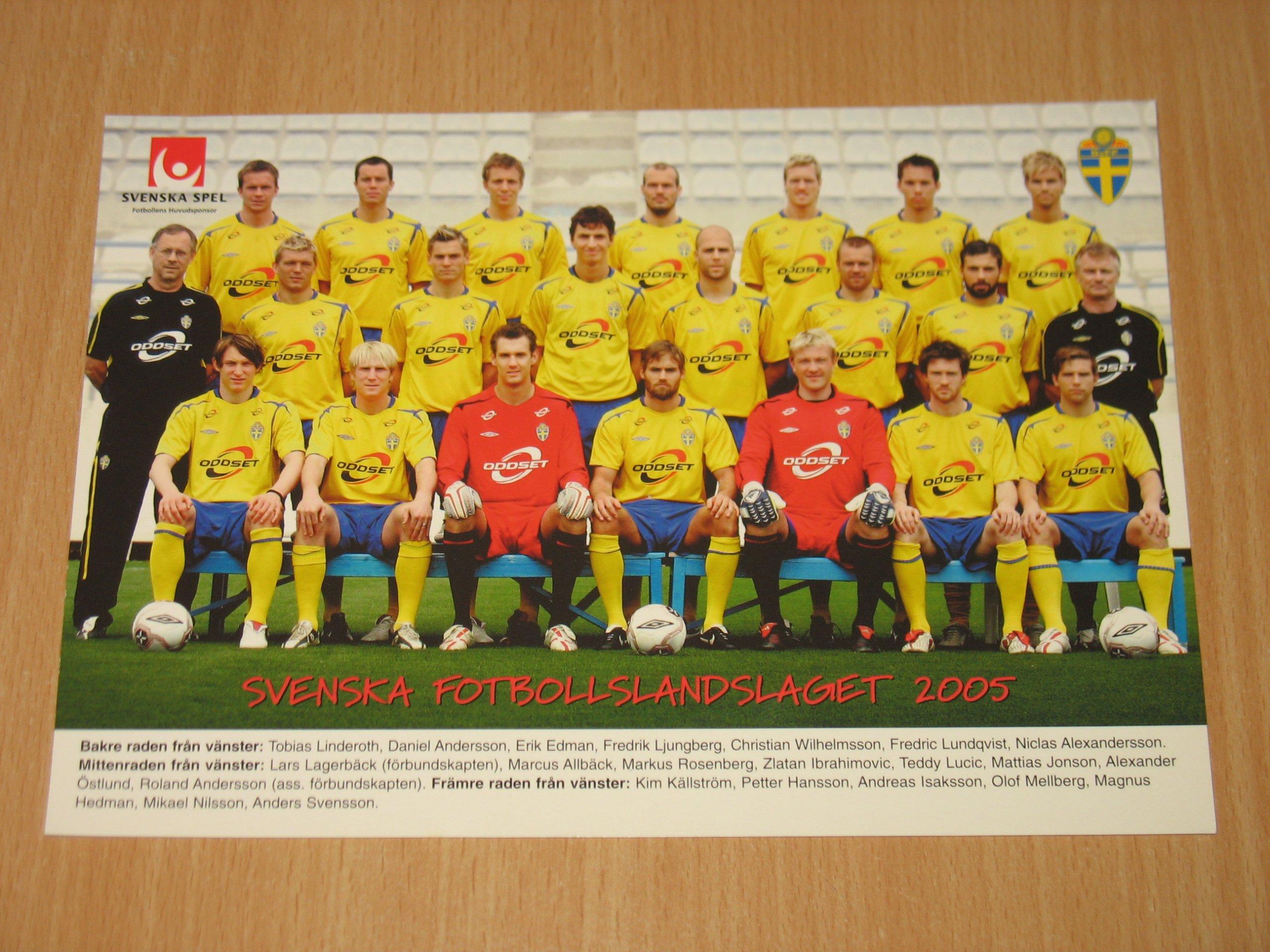 Piłka nożna - fotos zespołu Szwecja