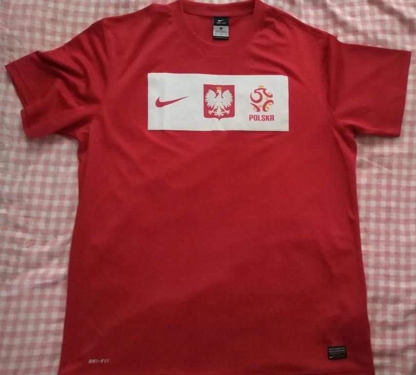 koszulka męska Polska L nowa czerwona