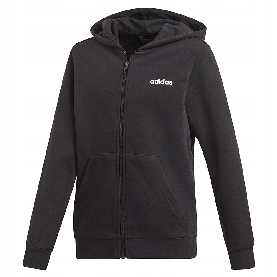 Bluza adidas YB E LIN FZ HD DV1792 czarny 176 cm!
