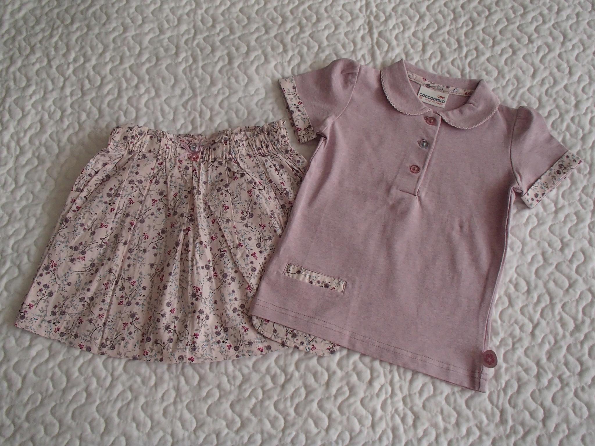 Coccodrillo bluzka spódnica fiolet nowe roz 92