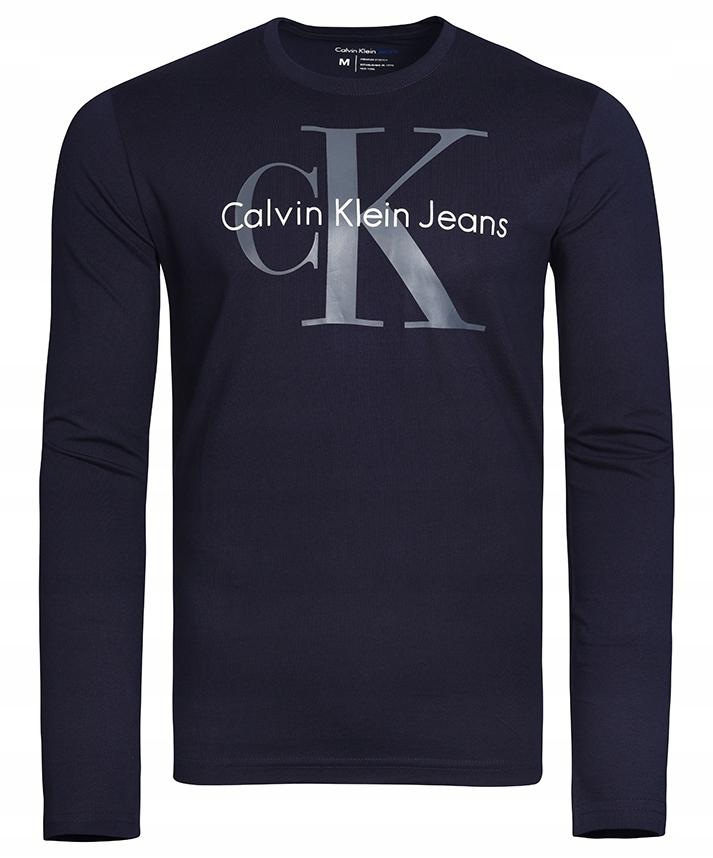 CALVIN KLEIN JEANS BLUZKA LONG LONGSLEEVE MĘSKI /S