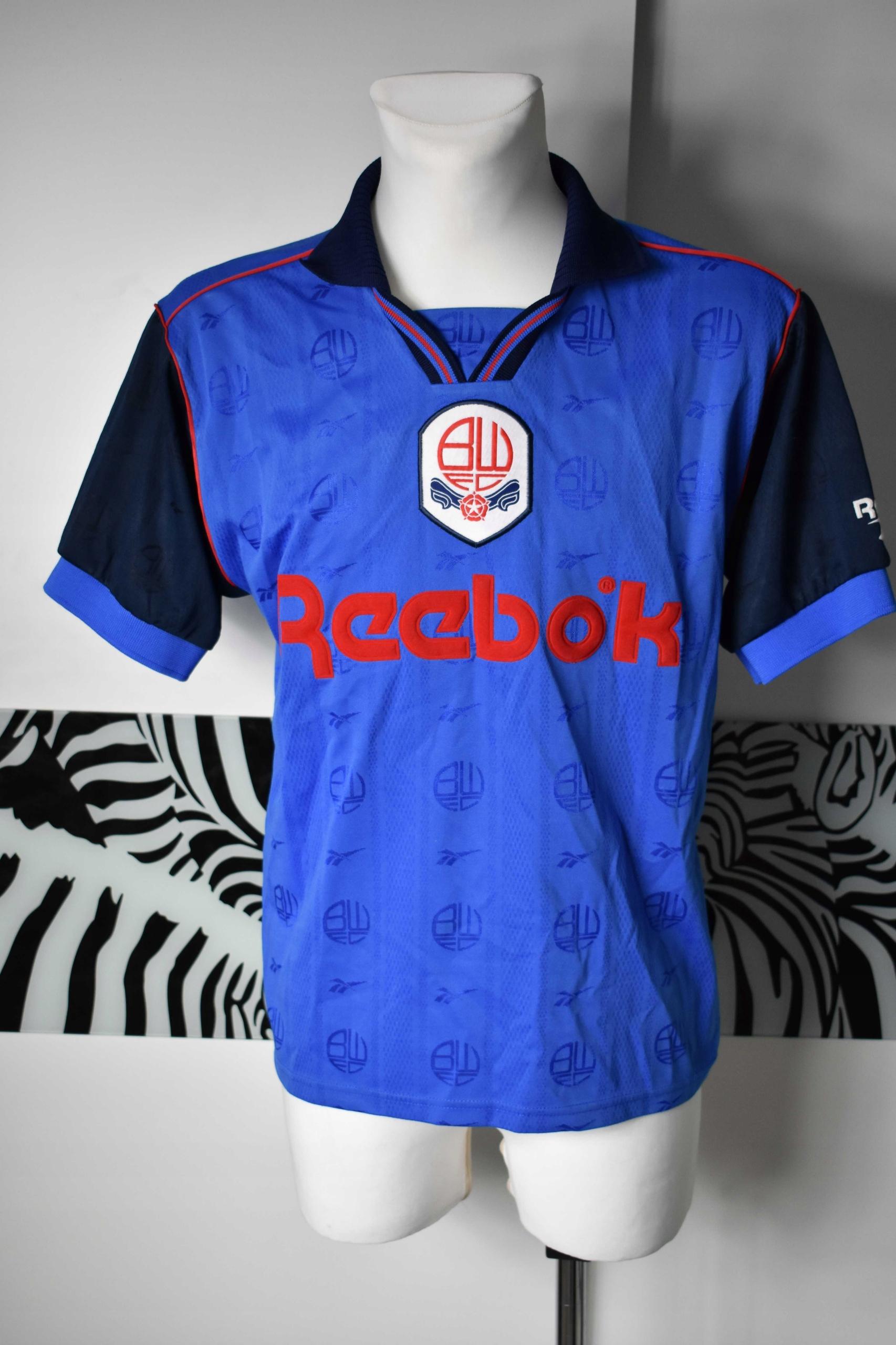 Bolton 1995 - 1997 reebok koszulka okazja tanio
