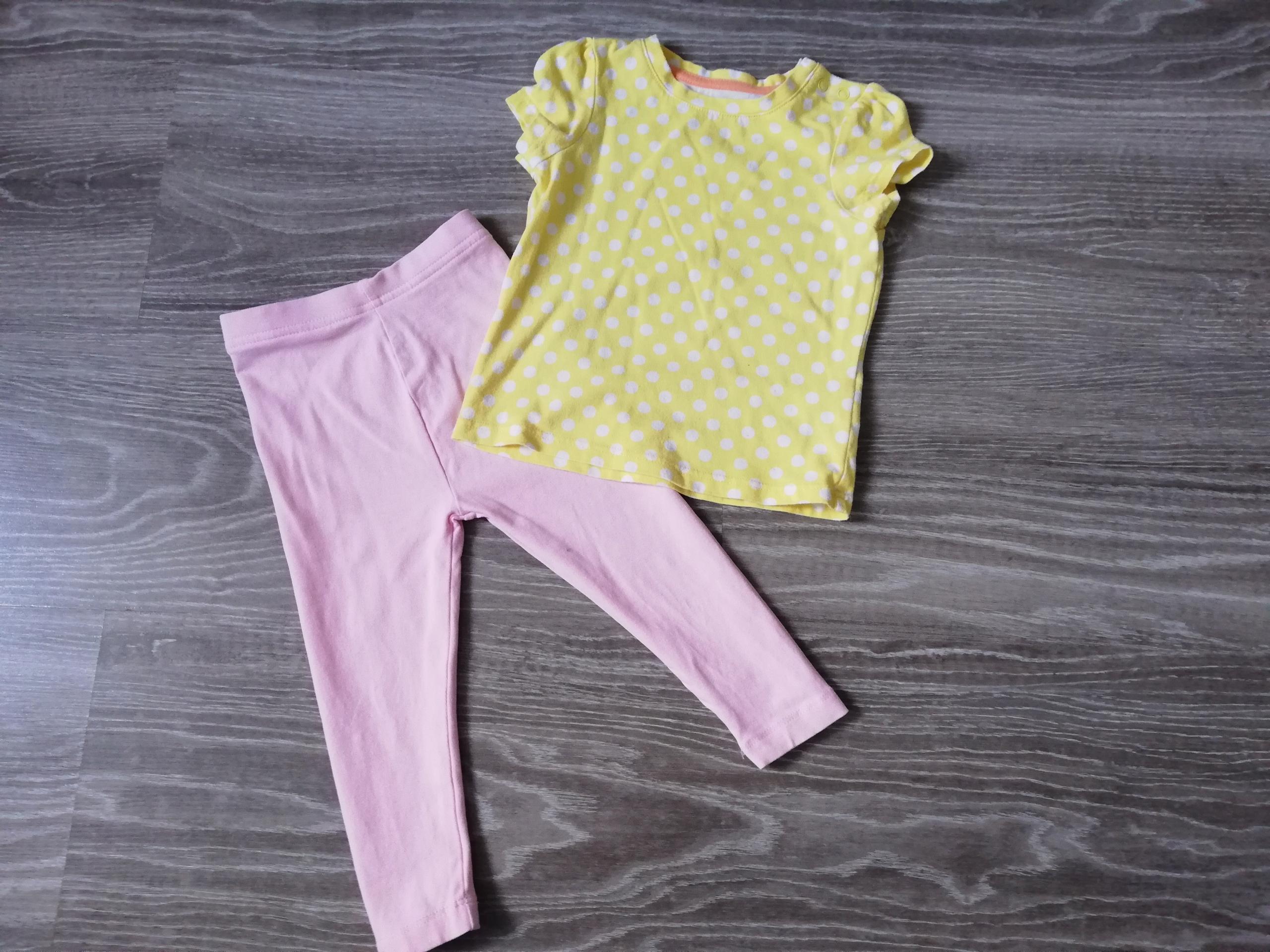 Zestaw legginsy i koszulka roz 80-86 George