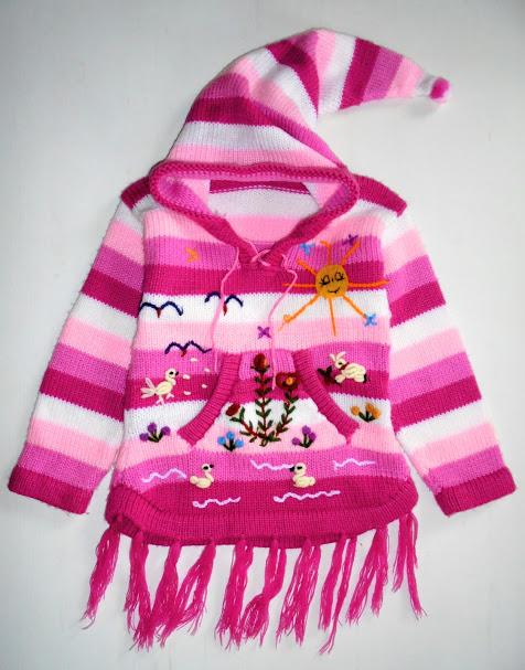 *100% Wełniany Sweterek z kapturkiem roz.98-104
