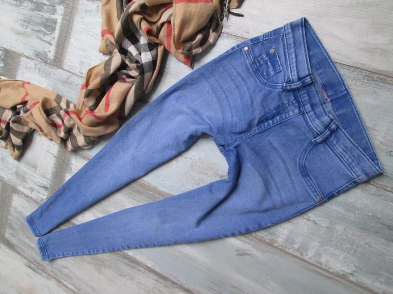 BERSHKA___treginsy stretch jeans rurki___34 XS