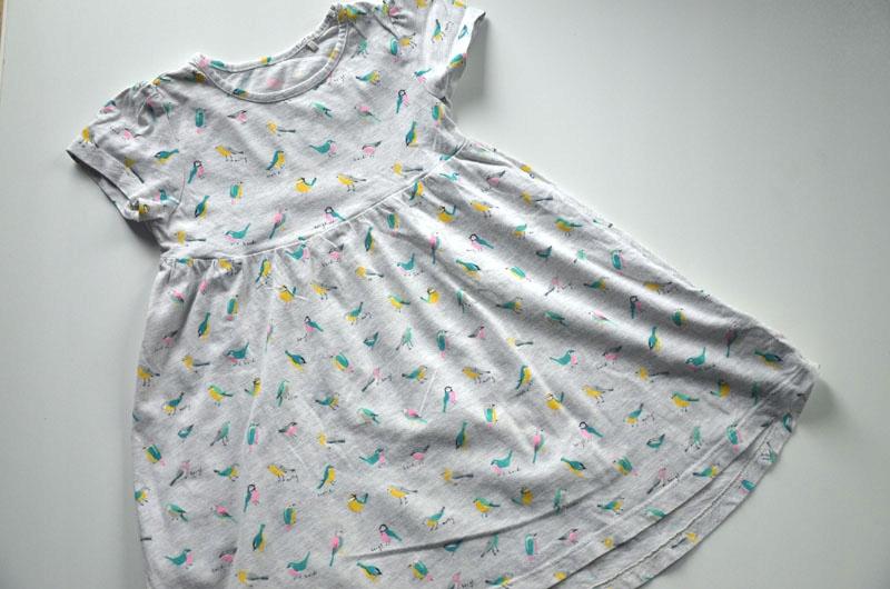 Sukienka bawełniana ptaszki 110 cm 5 lat