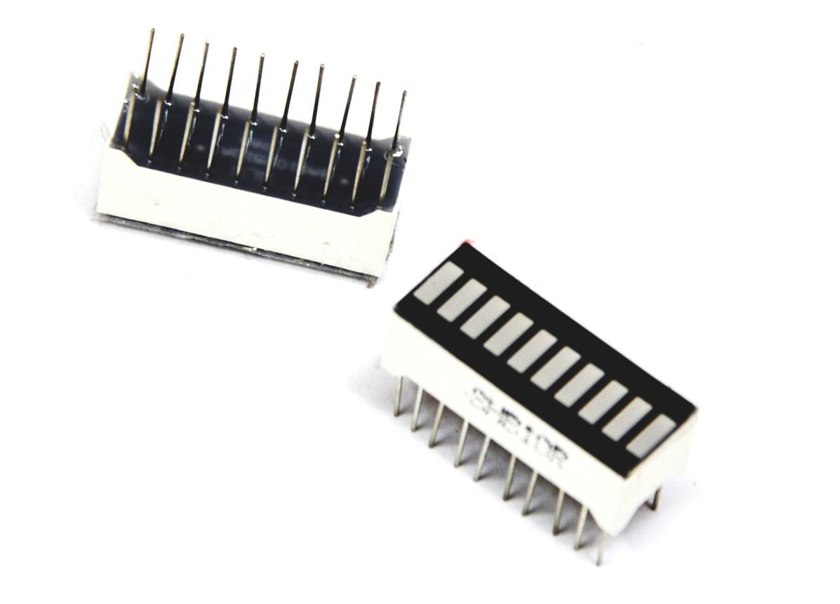 Wyświetlacz LED bar 10-segmentowy czerwony LINIJKA