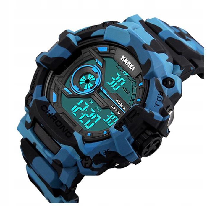Zegarek męski - SKMEI - elektroniczny stoper alarm