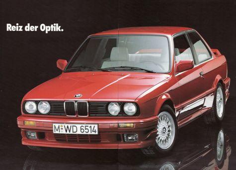 BMW E30 Aerodynamik coupe 2D opcja dla M-technik