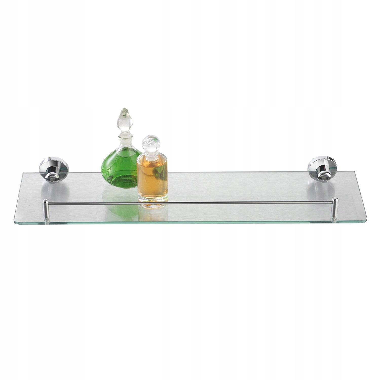 Półka szklana z ramką chromowaną 50 cm Axentia