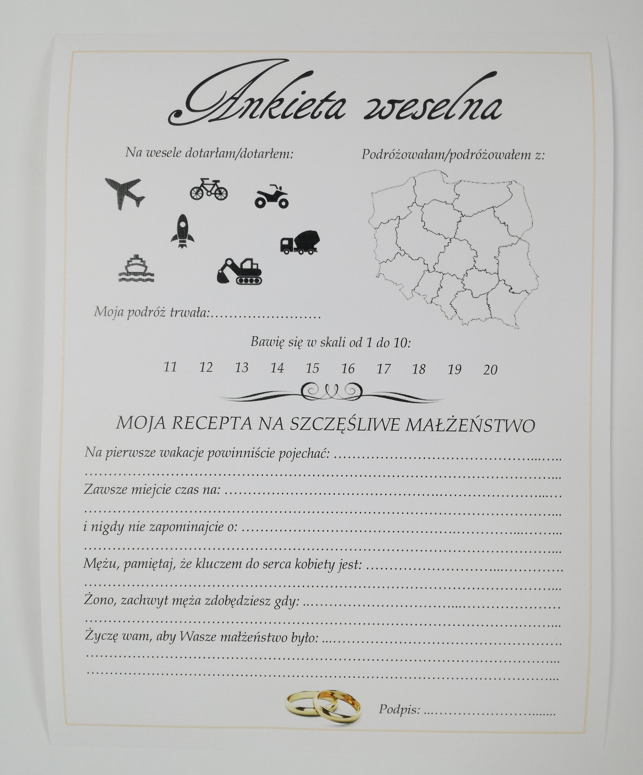 W Ultra Ankieta weselna Kokarda księga gości - 6791137129 - oficjalne KM87