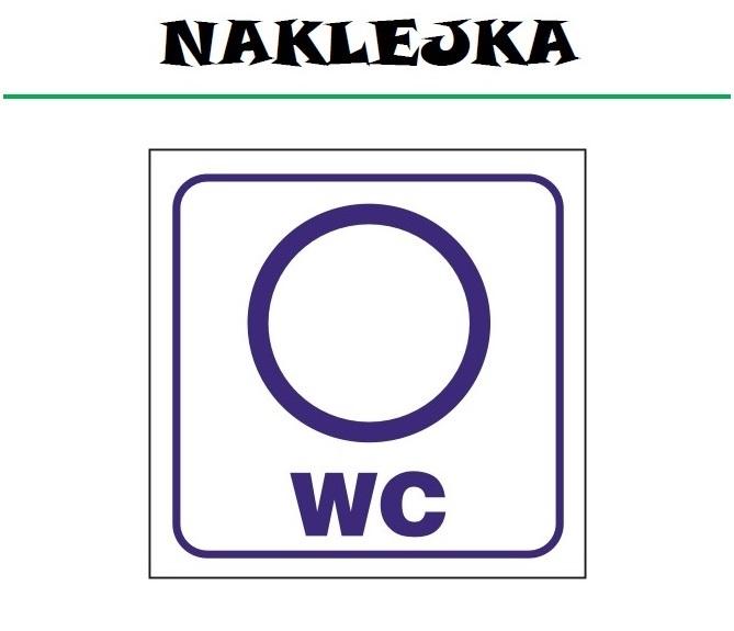 Naklejka etykieta WC toaleta DAMSKA ubikacja KÓŁKO