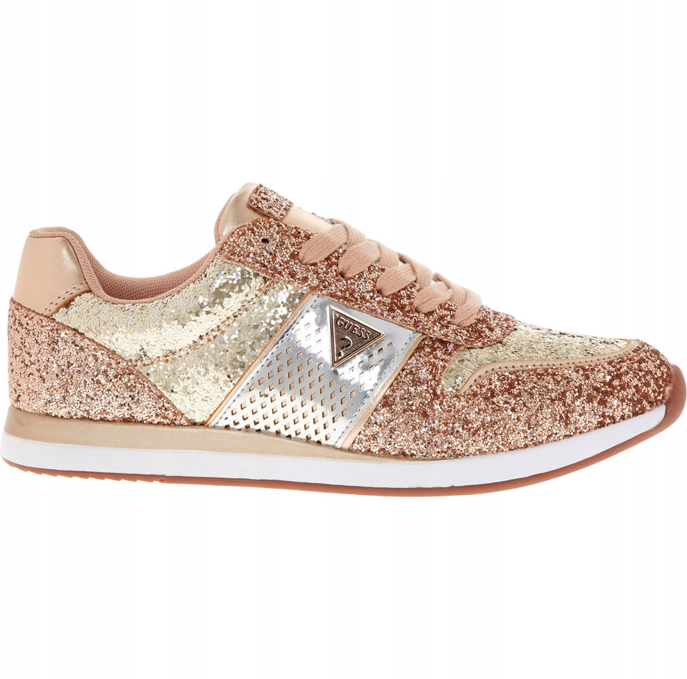 GUESS Sneakersy Rose Gold - 37