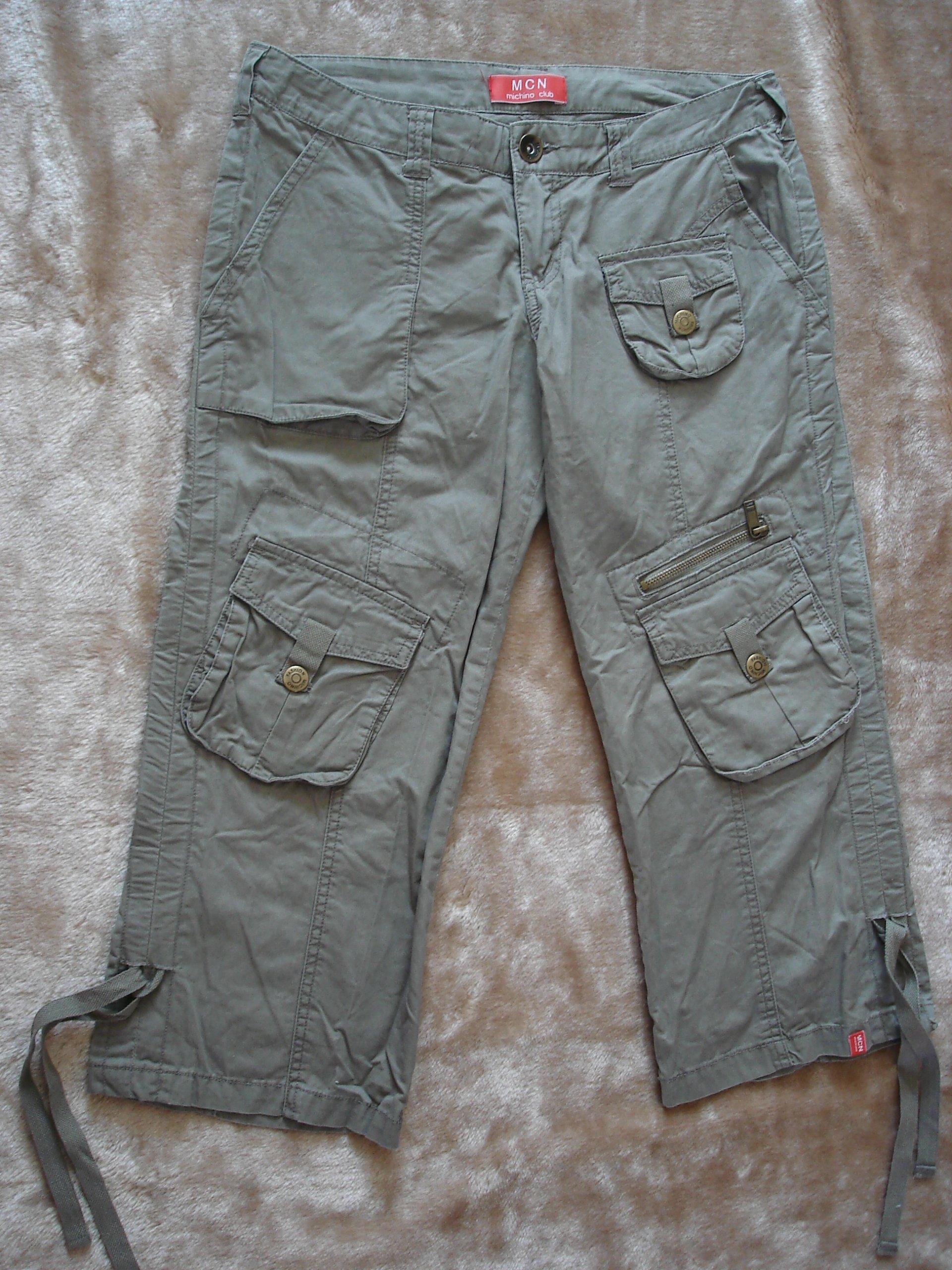 Spodnie bojówki khaki rybaczki roz 164 wiek 13 lat