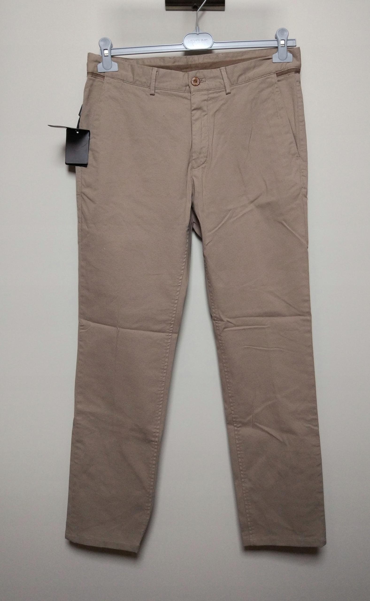 MASSIMO DUTTI beżowe spodnie wzór 48 slim fit