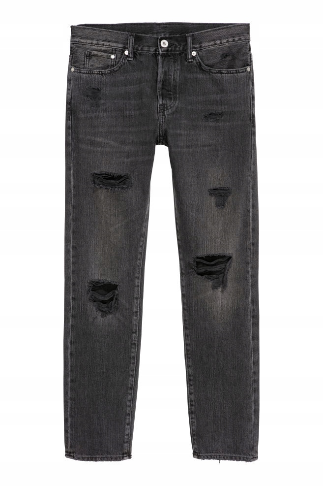 H&M, 36/34, Trashed Straight Jeans