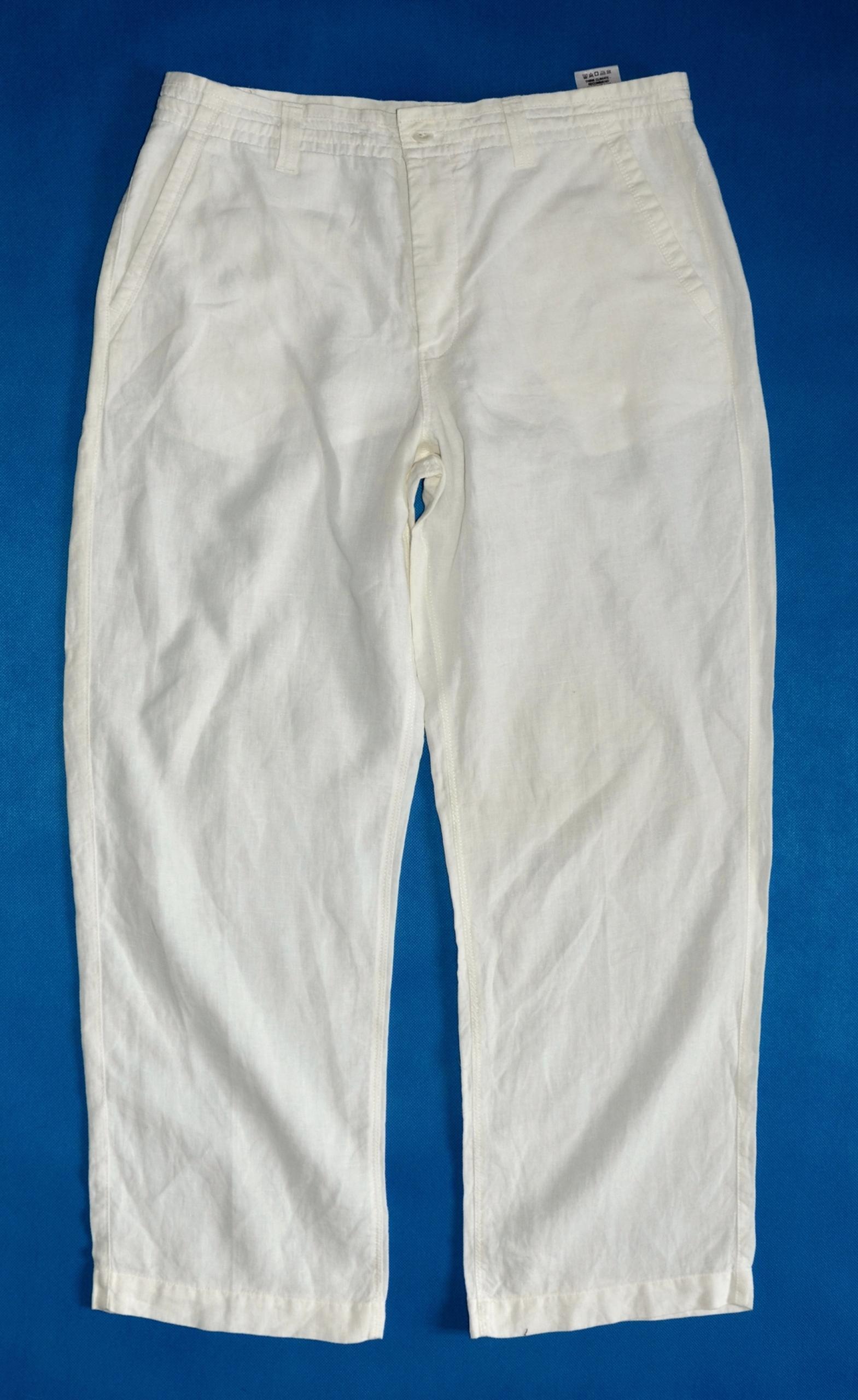 MARKS&SPENCER Lniane białe spodnie rozmiar XL