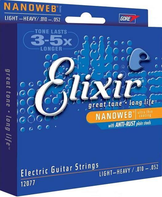 ELIXIR 12077 struny do elektryka 10-52 NanoWeb