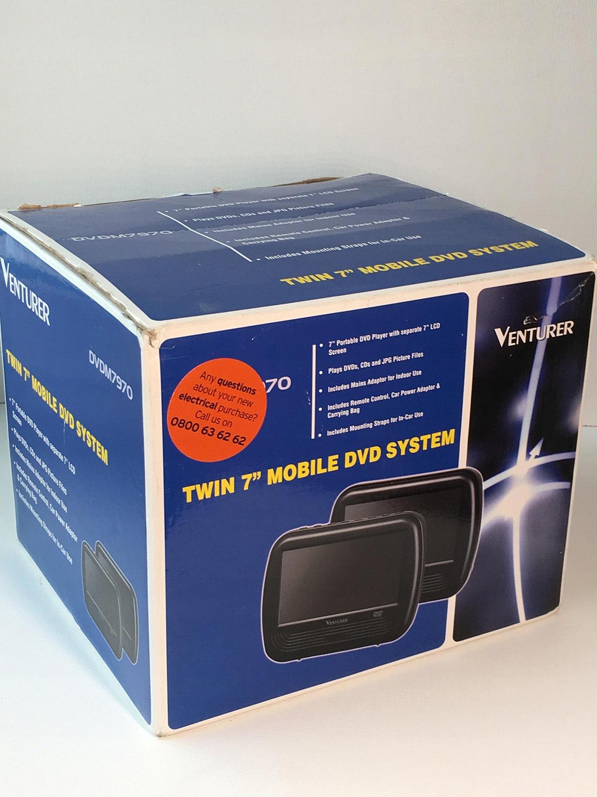 Podwójny DVD player 7 cali - 2 ekrany