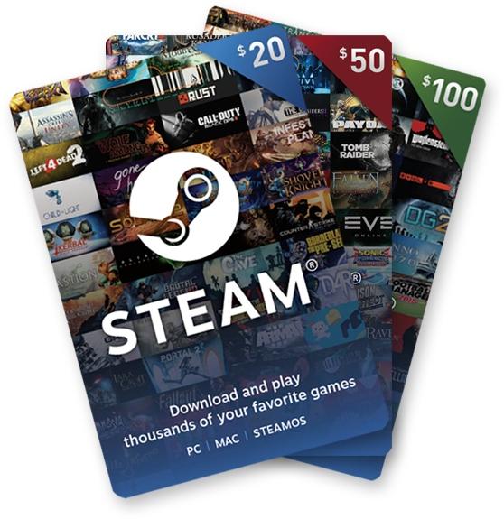 Losowe doładowanie Steam!