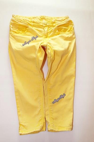 Mothercare Spodnie Spodenki Jeans Rybaczki Neon128