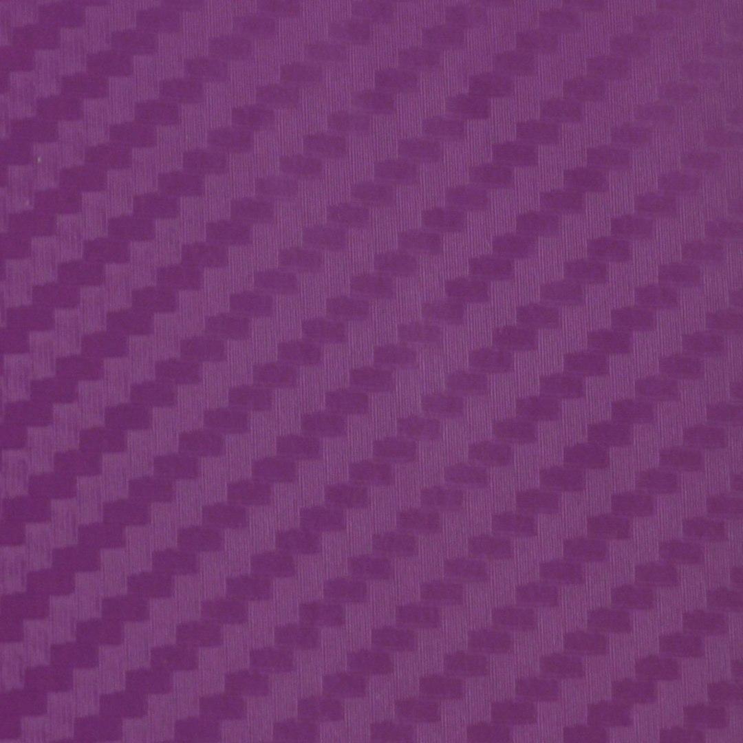Folia odcinek carbon 3D fioletowa 1,27x0,1m