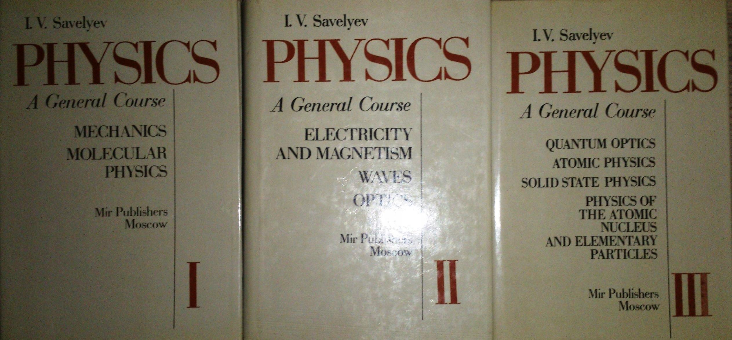 Physics a general Course tom I-III