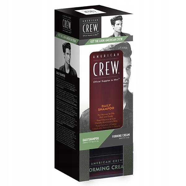 American Crew DUO szampon Daily 250ml+ Cream 85g