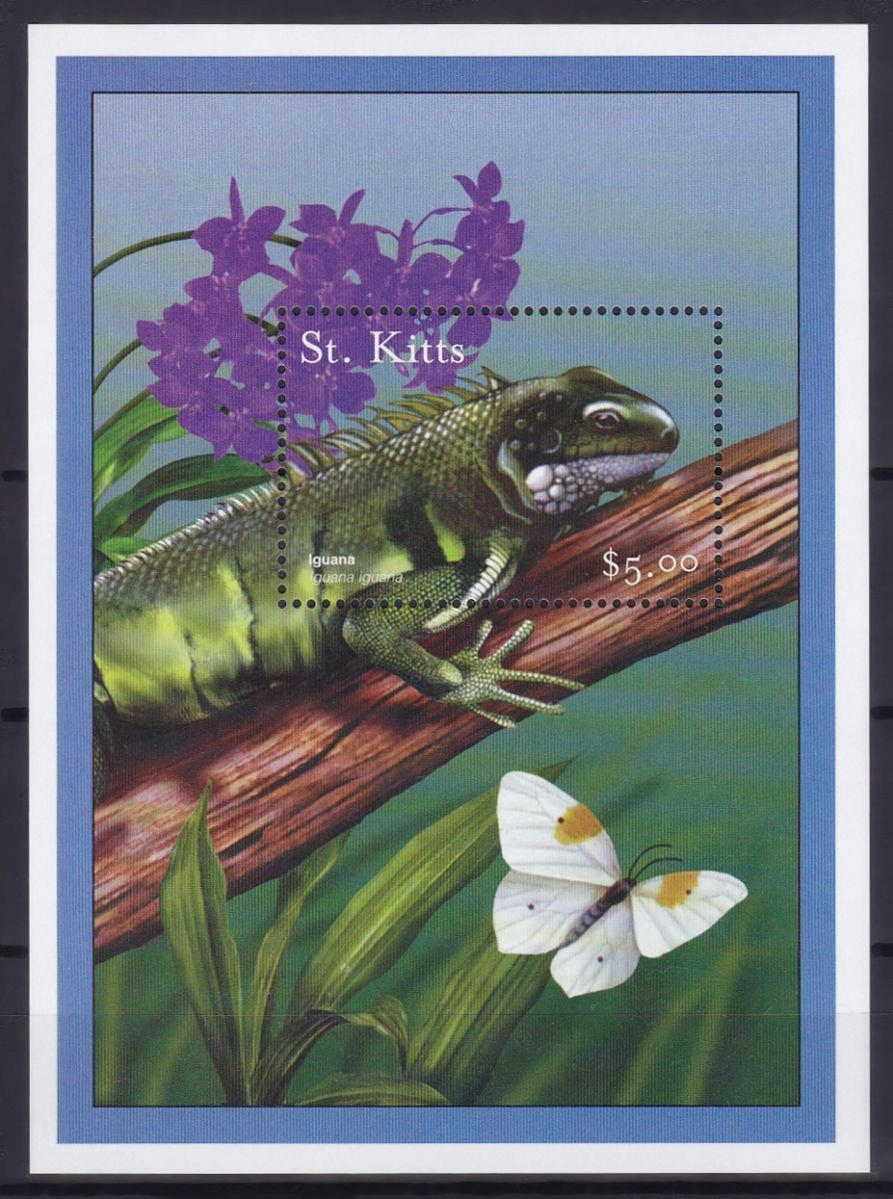 ST. KITTS - GADY - MOTYLE - 2001 r. - MNH(**)