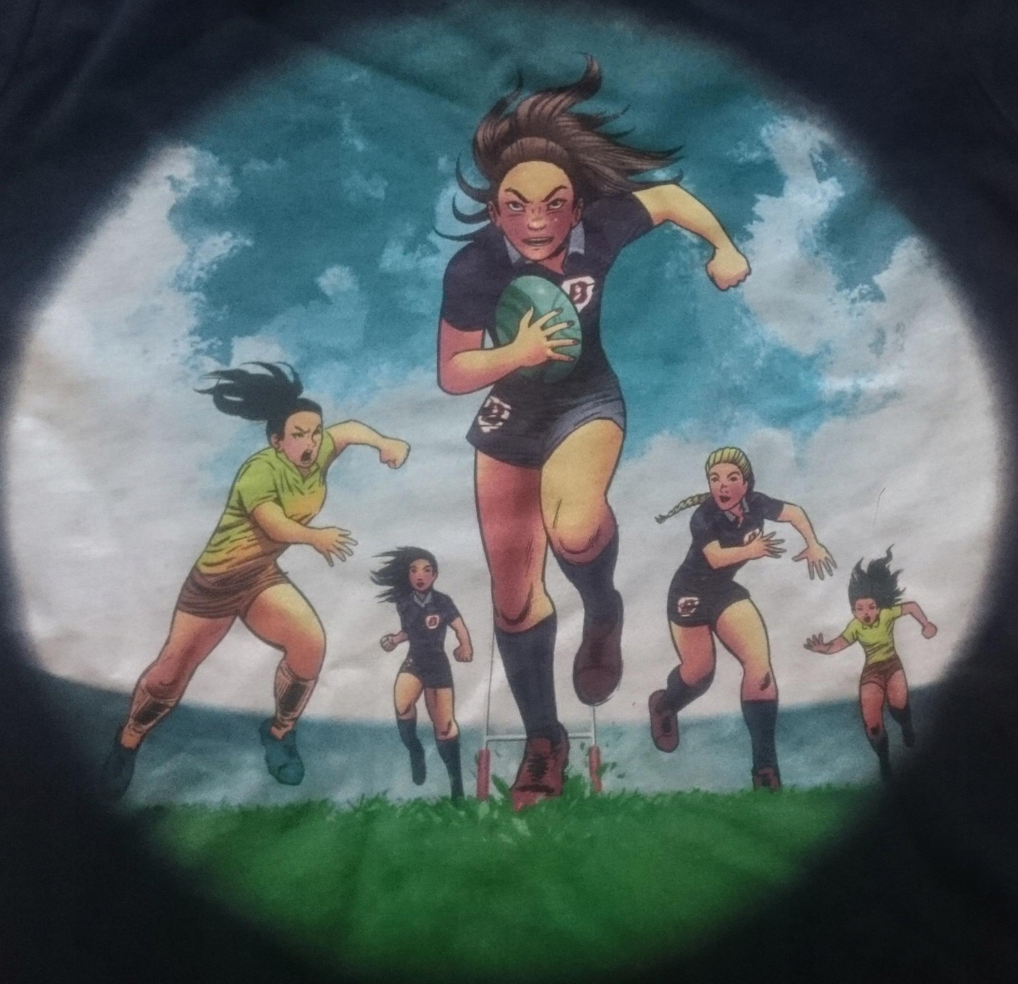 T-Shirt damski Rugby Kobiet! Rozmiary S-XL
