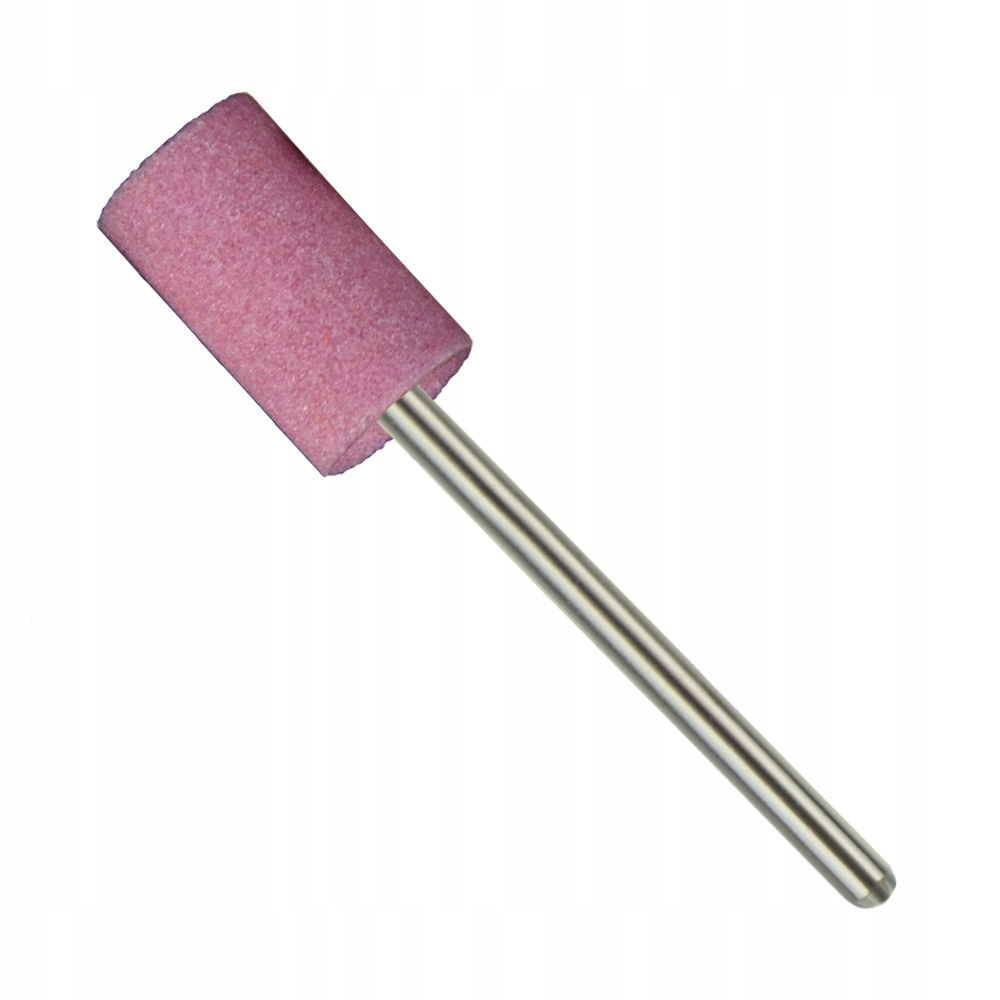 Frez KAMIENNY różowy do paznokci skórek WALEC