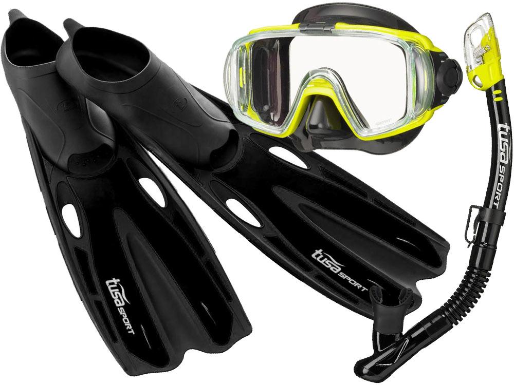 d8aa9ab4cdf5 TUSA ZESTAW VISIO maska fajka płetwy UF0201 r36-47 - 6797088218 ...