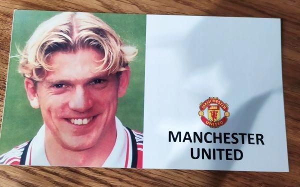 Jesper Blomqvist Manchester United autograf
