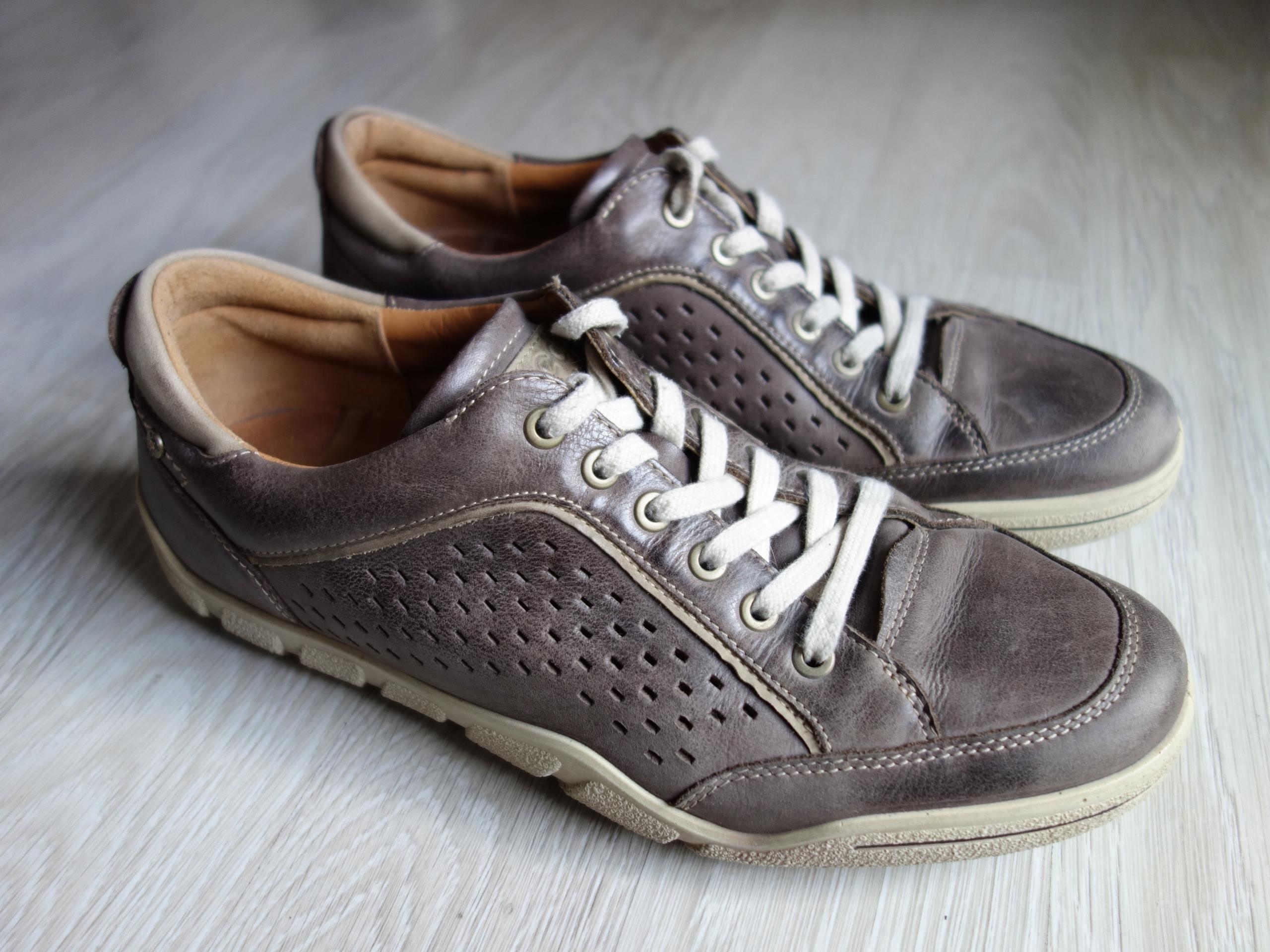ECCO skórzane sneakers półbuty męskie r 43