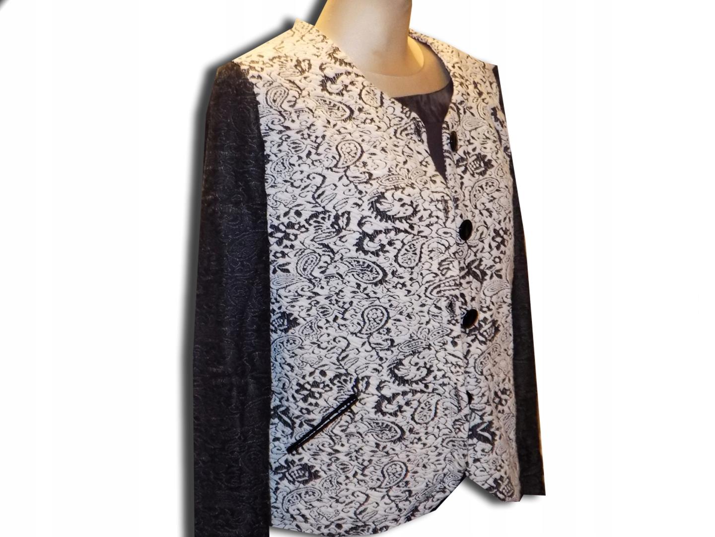 btx, nowoczesny bawełniany żakiet r.46 /Larisa777