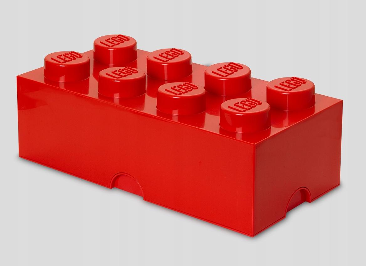 LEGO POJEMNIK NA KLOCKI 8 CZERWONY KLOCEK