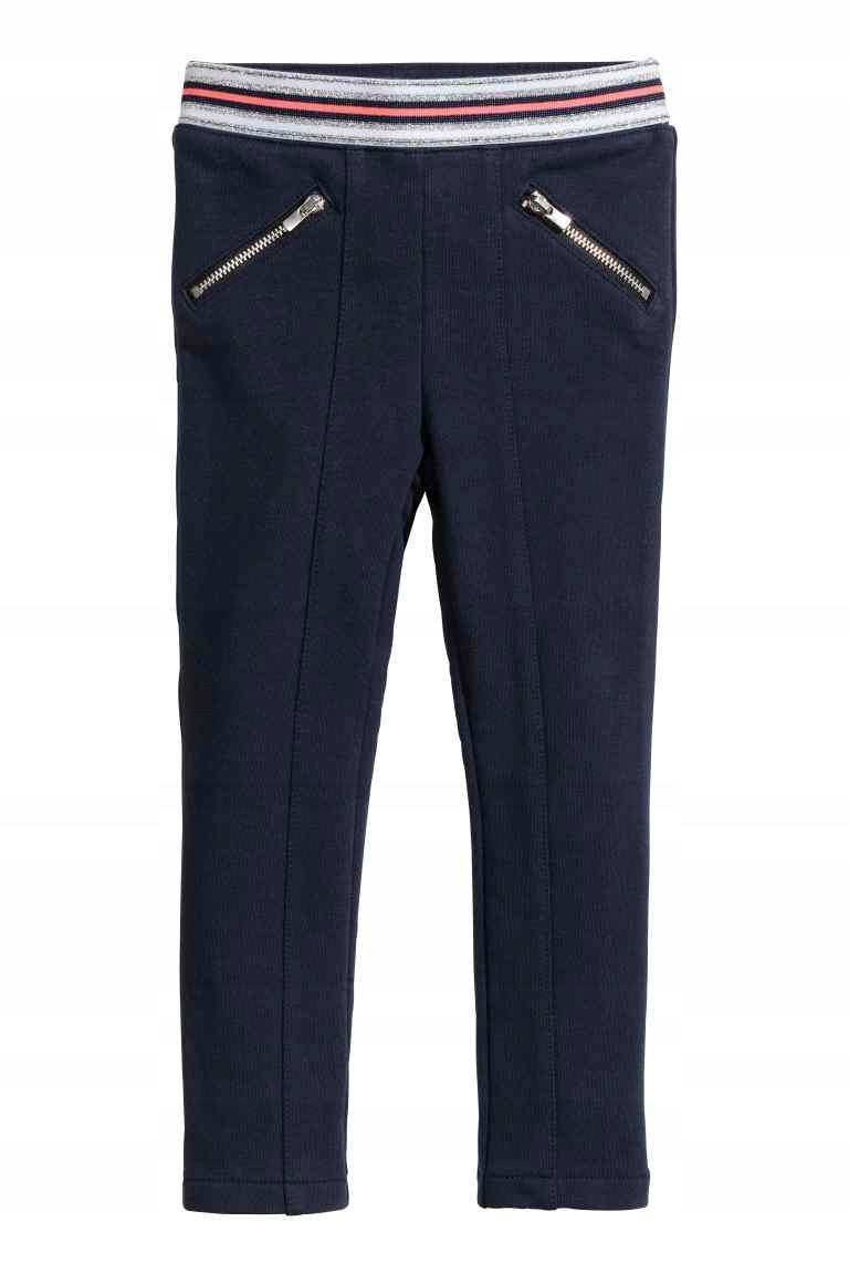 H&M spodnie TREGGINSY legginsy getry rurki 98
