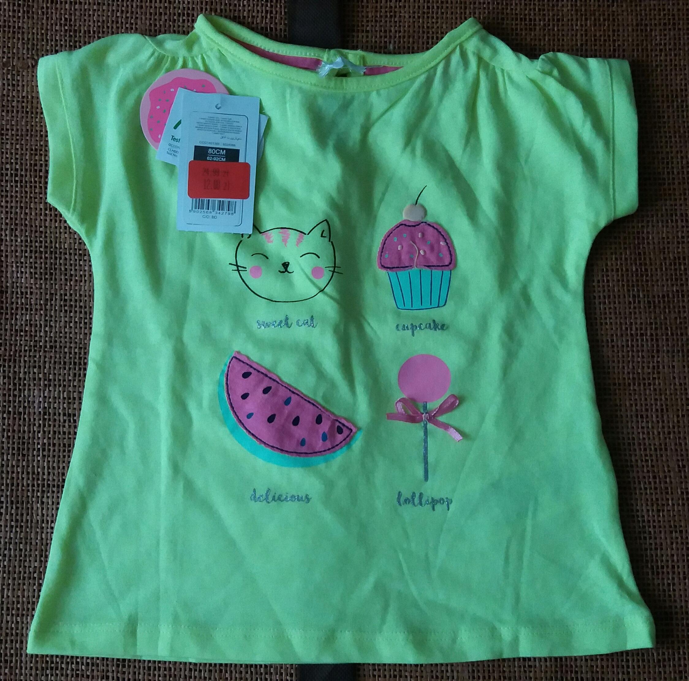 Bluzeczka z krótkim rękawem (rozmiar 80 cm)
