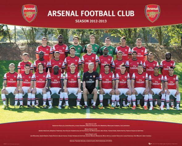 Arsenal Team 2012/2013 - plakat 50x40 cm